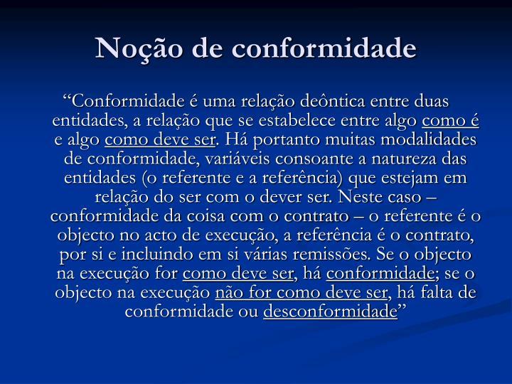Noção de conformidade