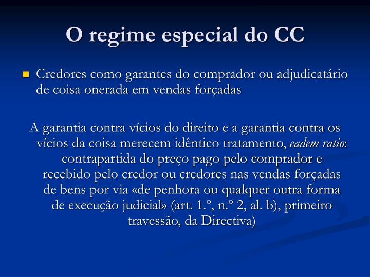 O regime especial do CC