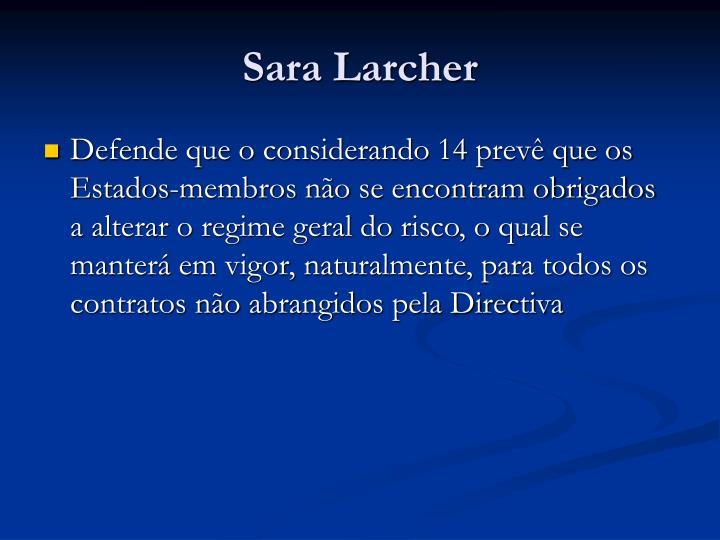 Sara Larcher