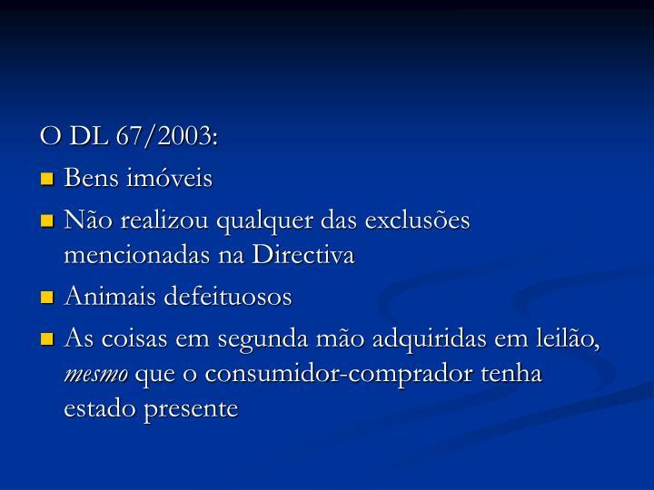 O DL 67/2003: