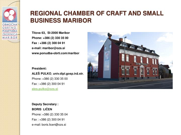 REGIONAL CHAMBER OF CRAFT