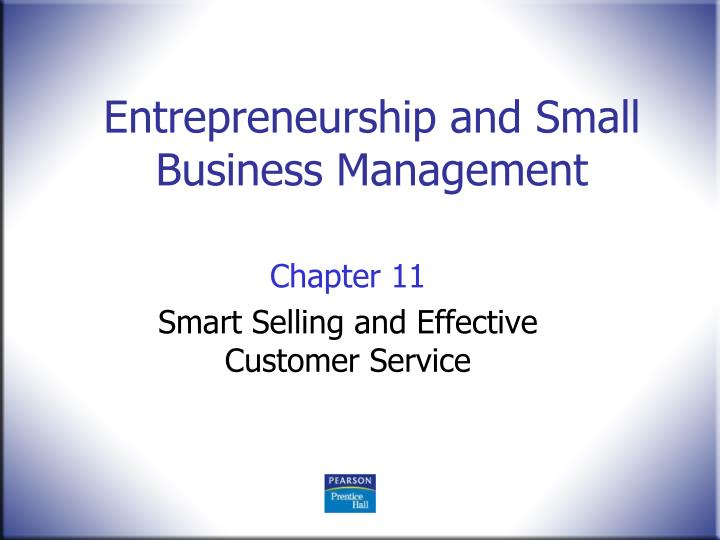 entrepreneurship and small business management n.