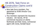 hb 2078 task force on construction claims cont d