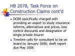 hb 2078 task force on construction claims cont d1