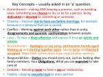 key concepts usually asked in an a question