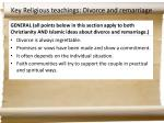 key religious teachings divorce and remarriage