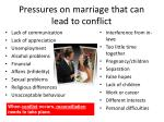 pressures on marriage that can lead to conflict