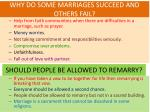 why do some marriages succeed and others fail
