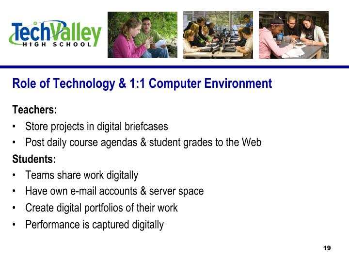 Role of Technology & 1:1 Computer Environment