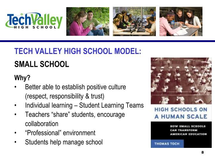 TECH VALLEY HIGH SCHOOL MODEL: