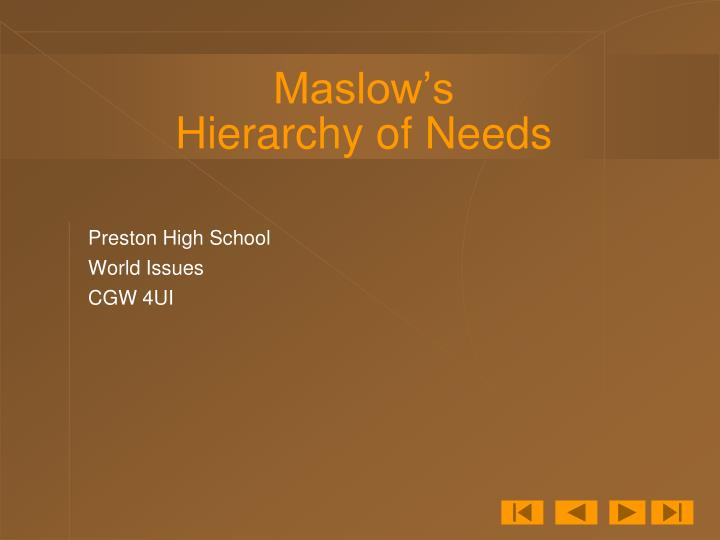 maslow s hierarchy of needs n.