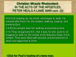 christian miracle rhetorolect in the acts of the apostles peter heals a lame man cont 2