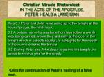 christian miracle rhetorolect in the acts of the apostles peter heals a lame man