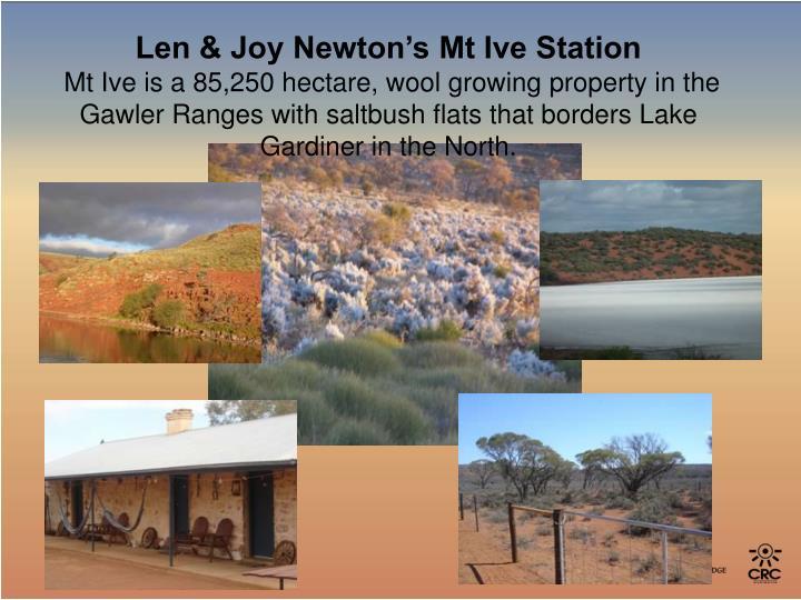 Len & Joy Newton's Mt Ive Station