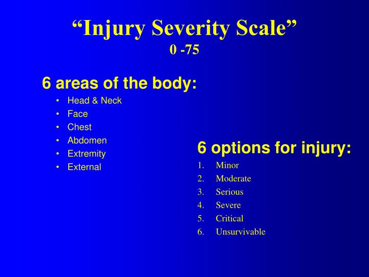 """""""Injury Severity Scale"""""""