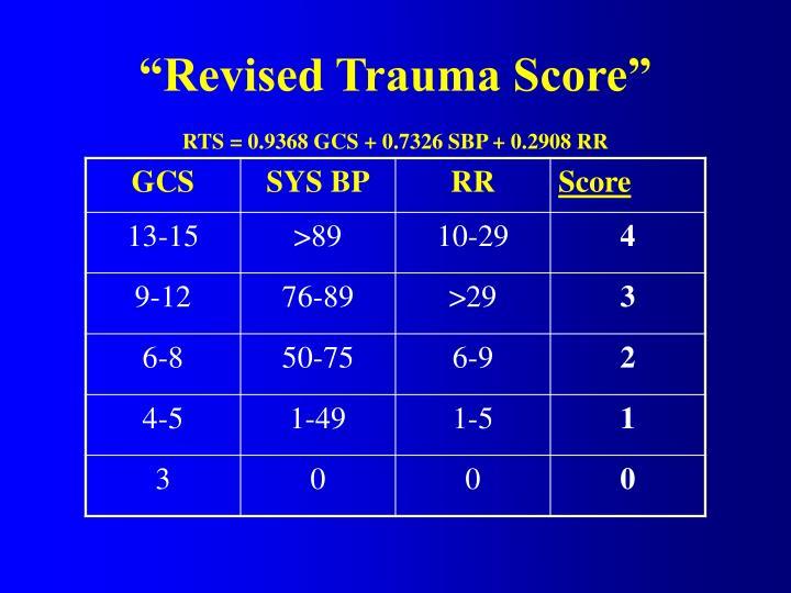 """Revised Trauma Score"""