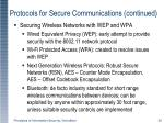 protocols for secure communications continued2