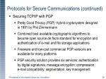 protocols for secure communications continued4