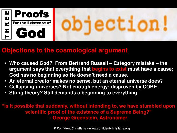 Objections to the cosmological argument