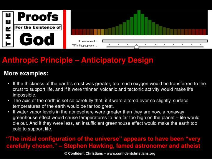 Anthropic Principle – Anticipatory Design