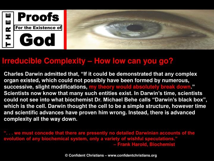 Irreducible Complexity – How low can you go?