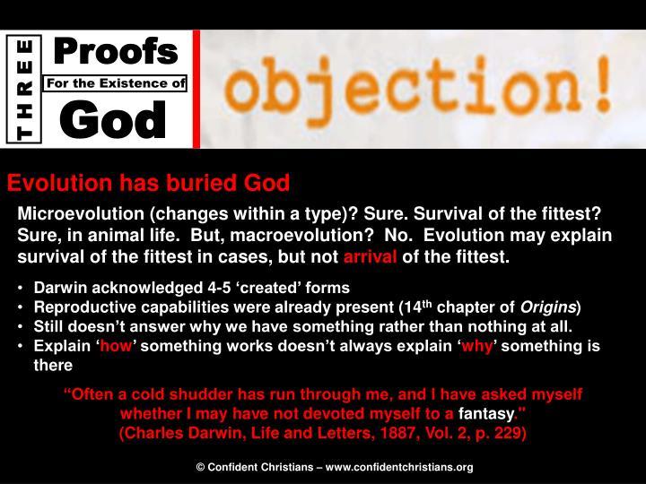Evolution has buried God