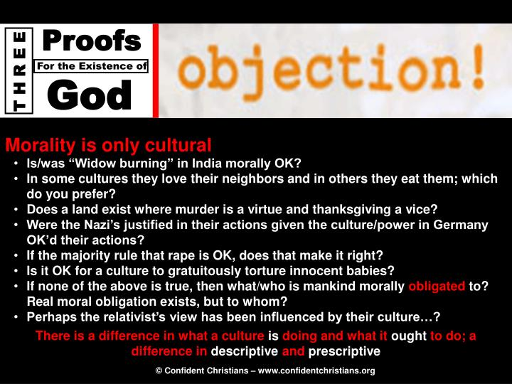 Morality is only cultural