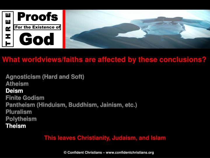 What worldviews/faiths are affected by these conclusions?