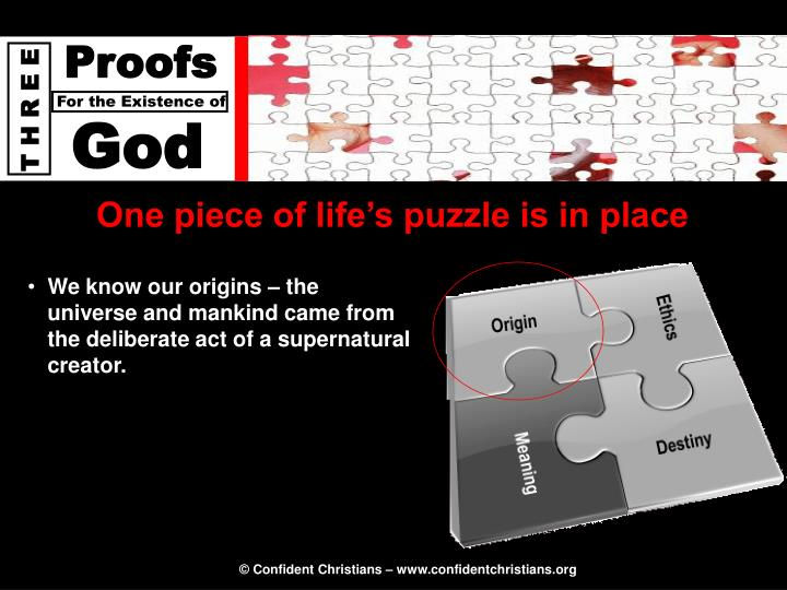 One piece of life's puzzle is in place