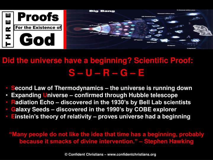 Did the universe have a beginning? Scientific Proof:
