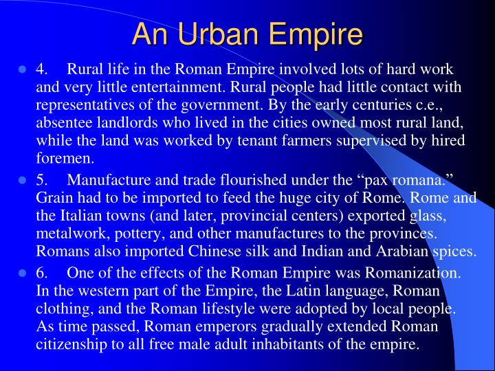 An Urban Empire