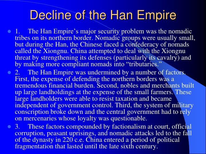 Decline of the Han Empire