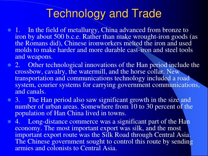 Technology and Trade