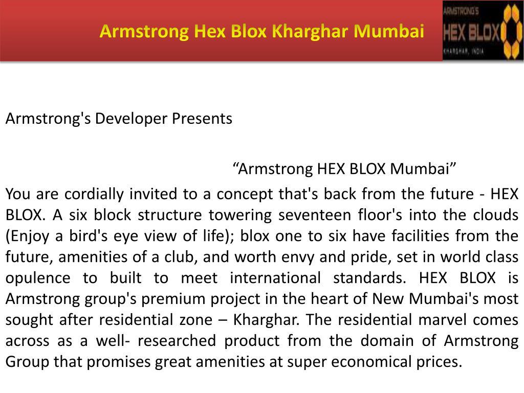 Armstrong Hex Blox Kharghar