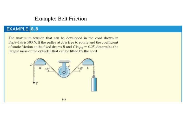 Example: Belt Friction