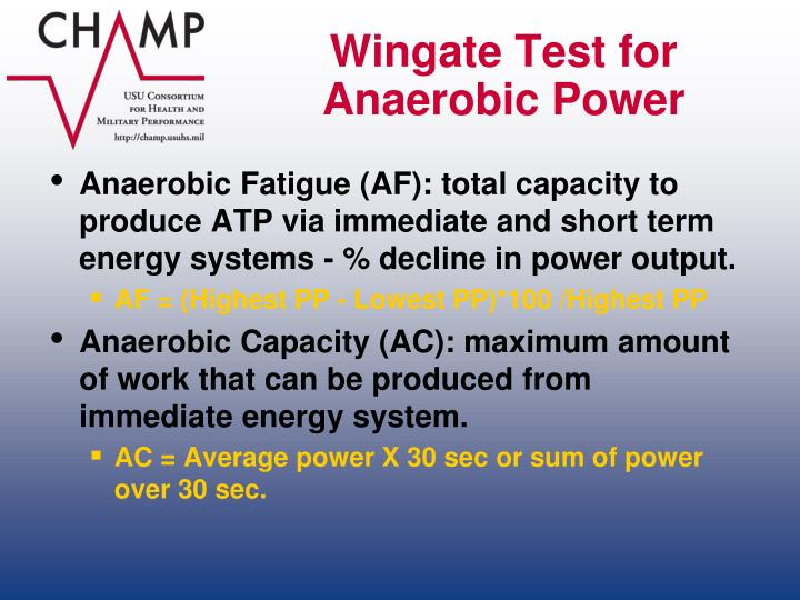 Wingate Test for