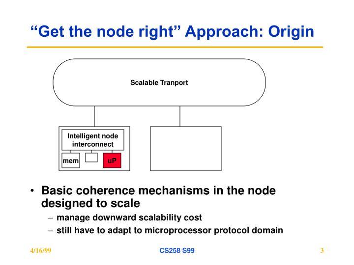Get the node right approach origin