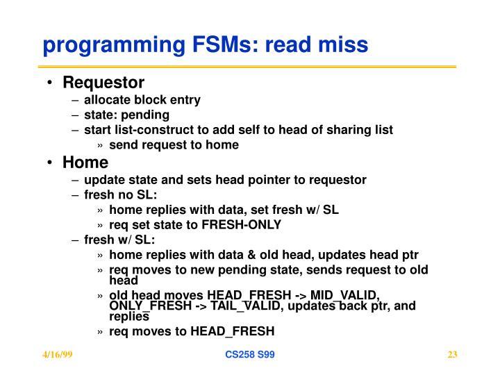 programming FSMs: read miss