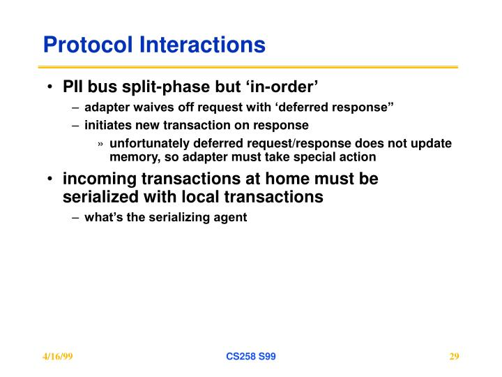 Protocol Interactions