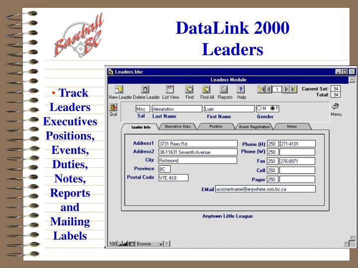 Datalink 2000 leaders
