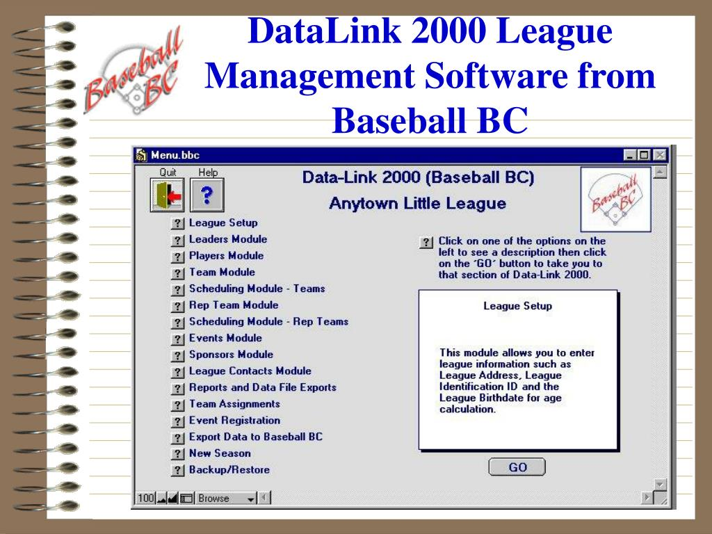 DataLink 2000 League Management Software from
