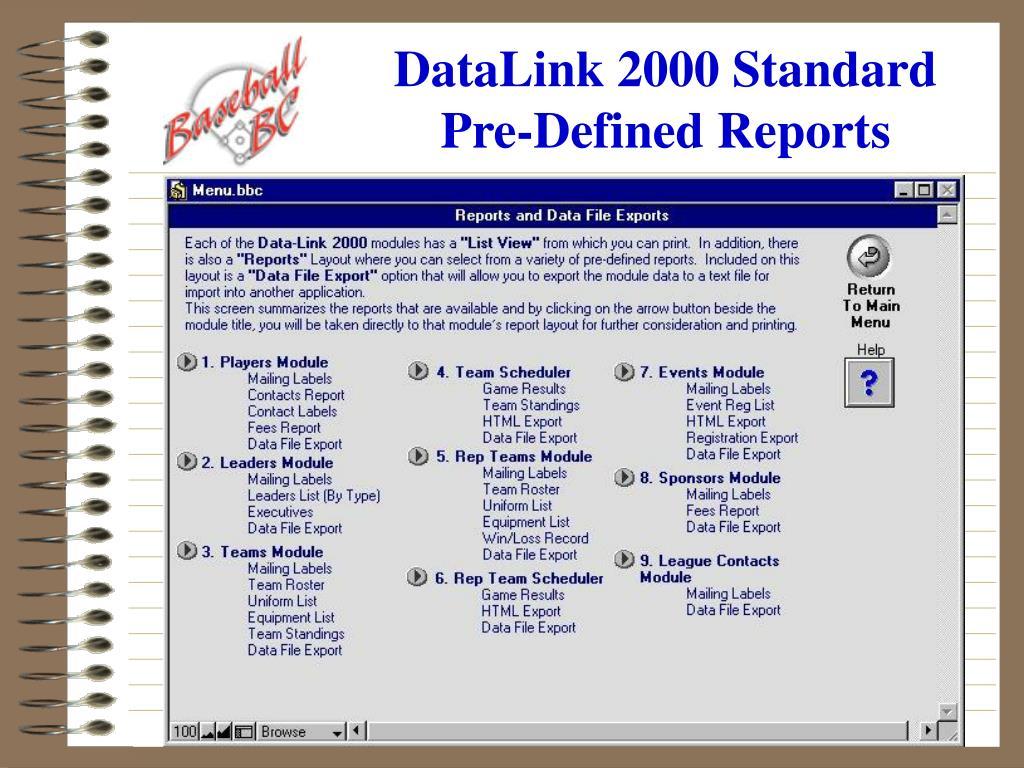 DataLink 2000 Standard