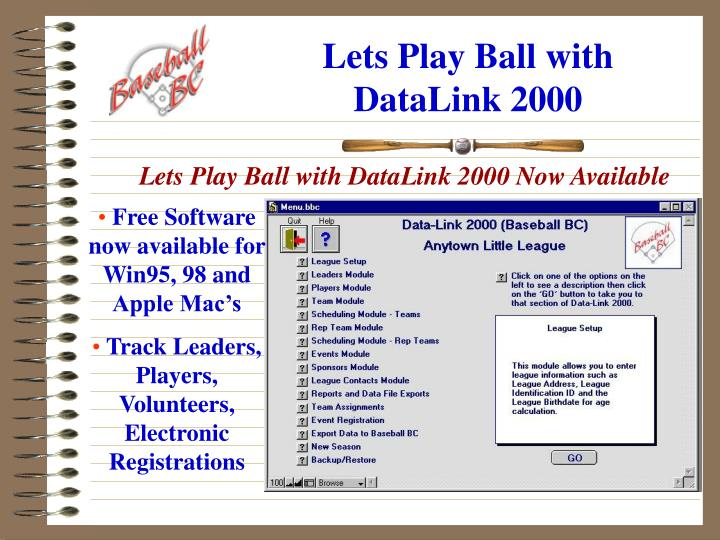 Lets play ball with datalink 2000