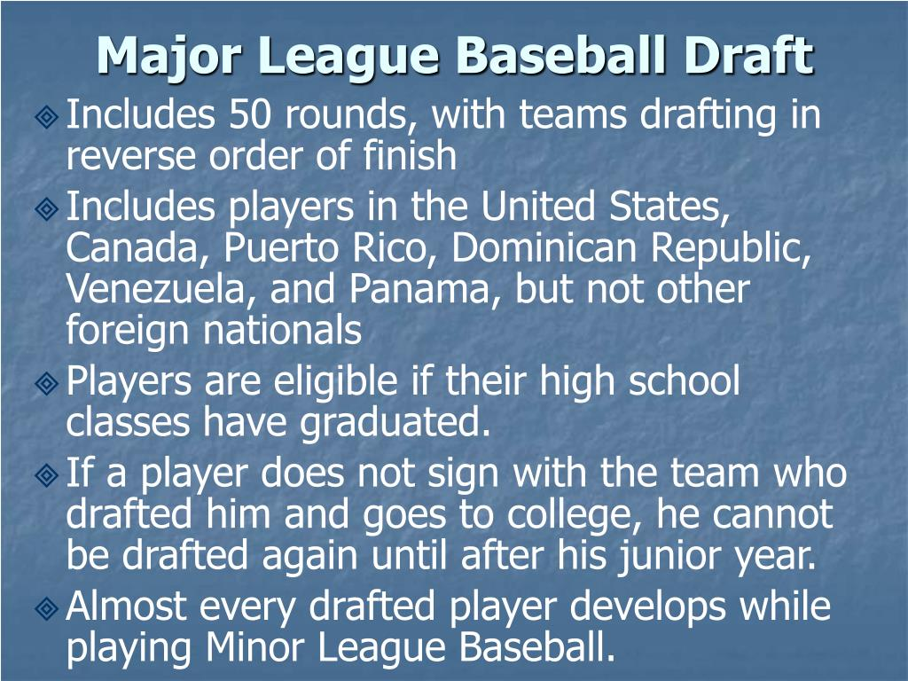 Major League Baseball Draft