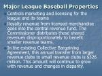 major league baseball properties