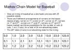 markov chain model for baseball