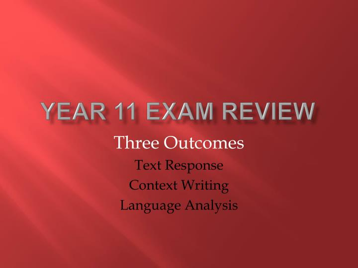 year 11 exam review n.