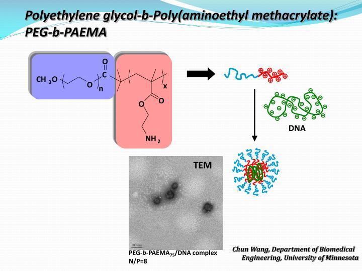 Polyethylene glycol-b-Poly(aminoethyl methacrylate): PEG-b-PAEMA