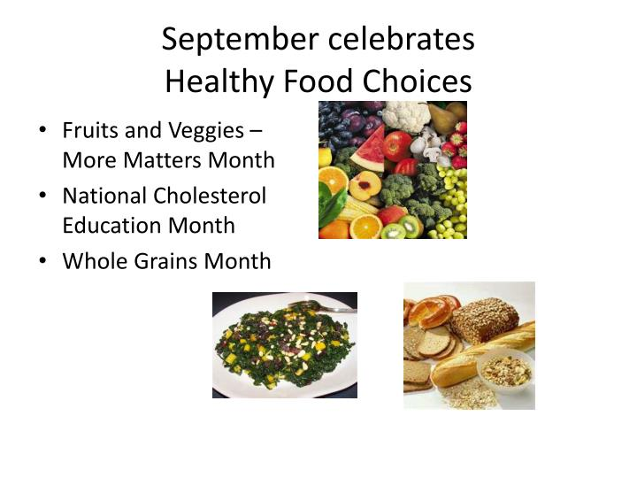 september celebrates healthy food choices n.