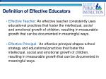 definition of effective educators